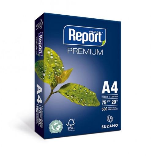 Papel -Sulfite- A4-Report- Premium-75g-500-Folhas -Suzano