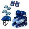 Patins- In-Line- Ajustavel -Com- Acessorios -N.34/37 -Azul- Zippy Toys